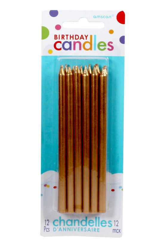 Amscan Candles Tall Gold Pack ...
