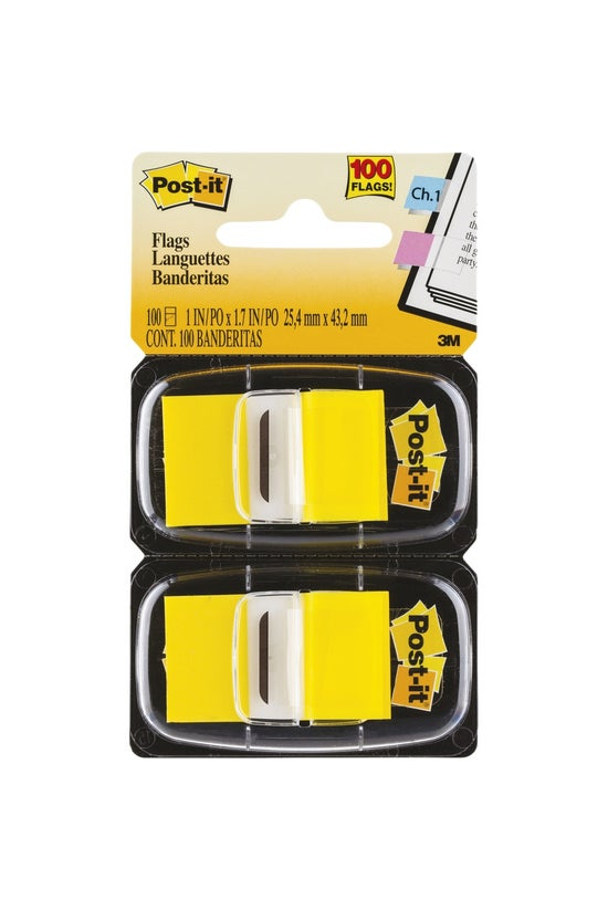 3m Post-it Flags Yellow 2 Pack