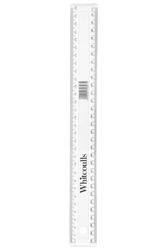 Whitcoulls Ruler 30cm Clear