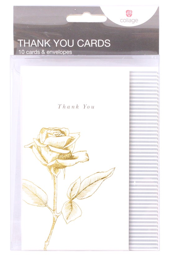 Collage Thank You Cards Gold R...