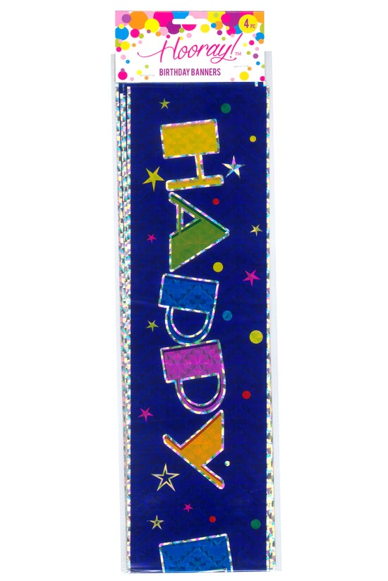 Hooray! Happy Birthday Banners...