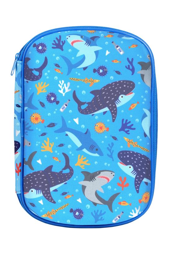 Jotz Sharks Pencil Case Blue