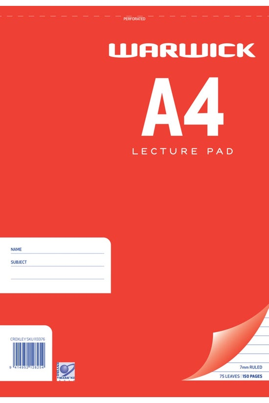 Warwick Lecture Pad Spiral A4 ...