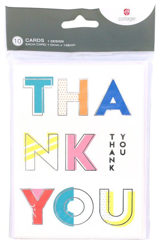 Collage Thank You Cards Colour...