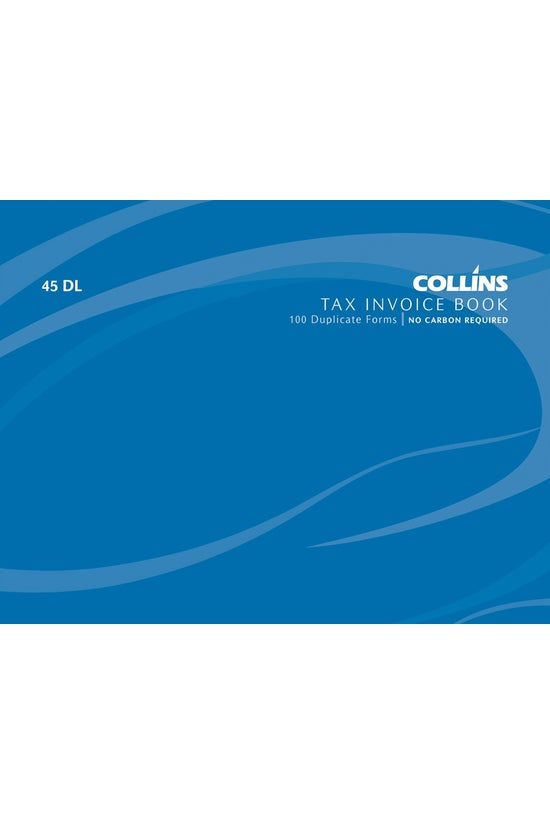 Collins Tax Invoice Bk 45dl Nc...