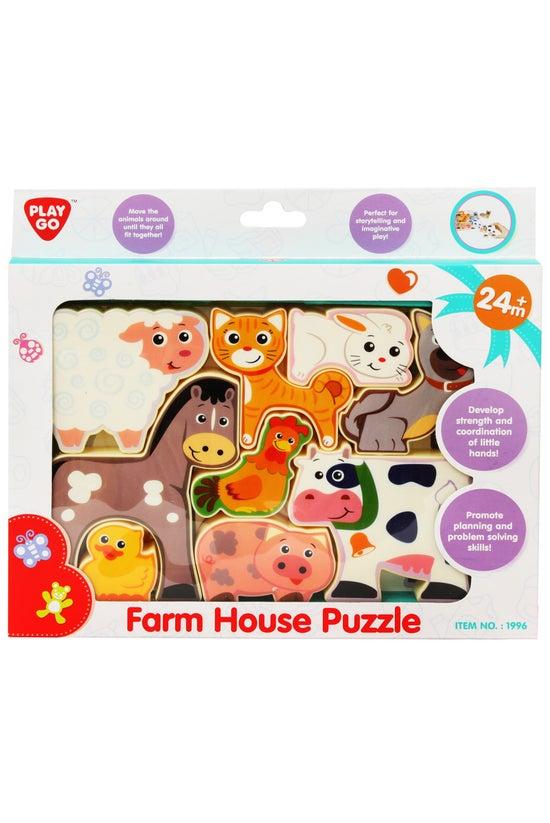Jigsaw Puzzle Farm Animals 9 P...
