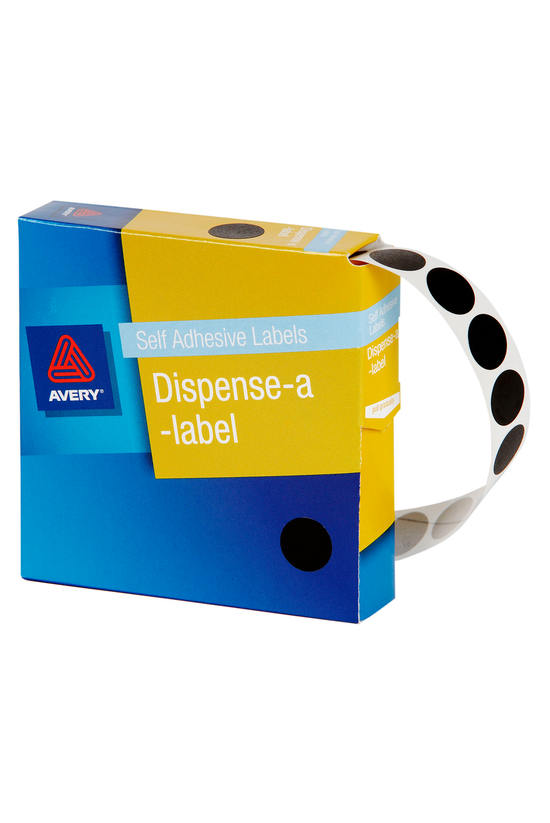 Avery Round Labels Black 14mm ...