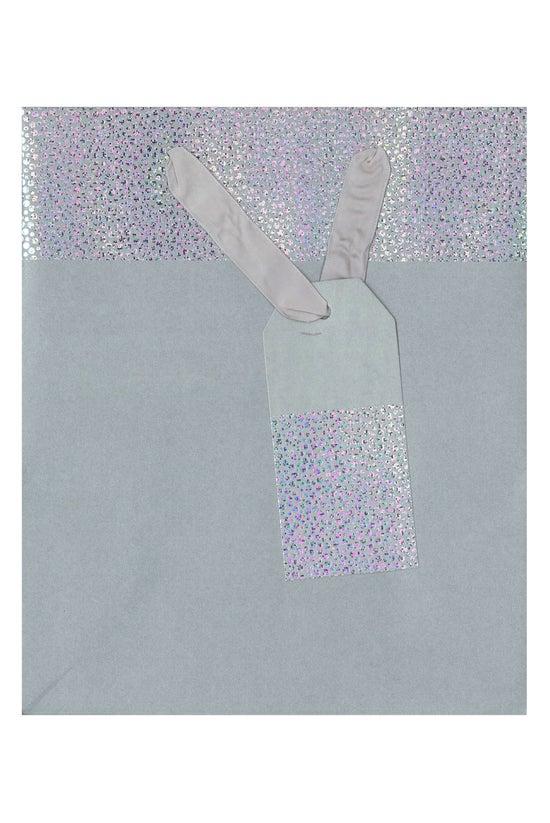 Collage Gift Bag Grey Holograp...