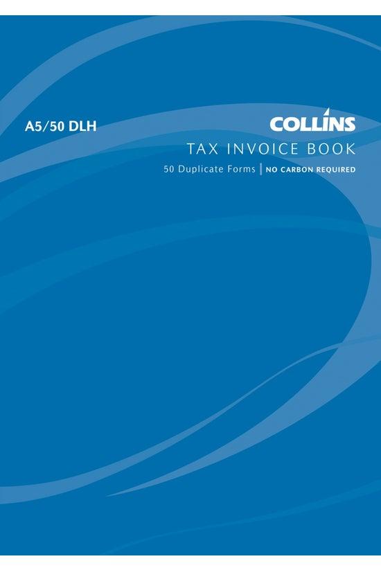 Collins Tax Invoice Bk A5/50dl...