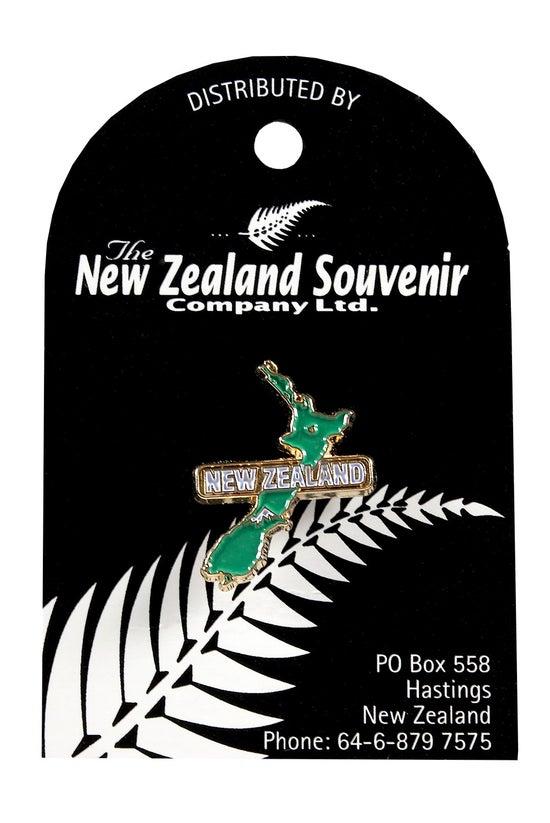 Lapel Pin New Zealand Map
