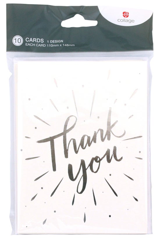 Collage Thank You Cards Silver...