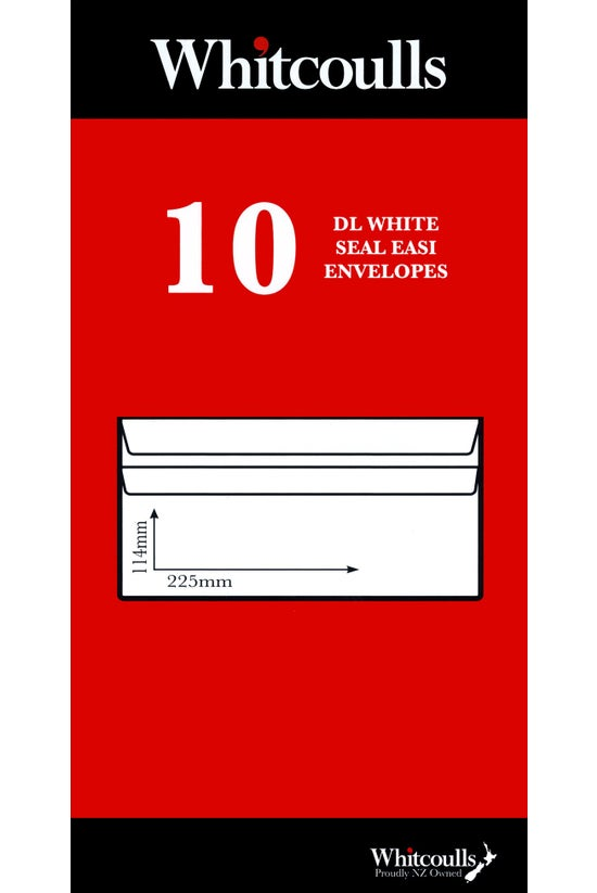 Whitcoulls Envelopes Dle Seal ...