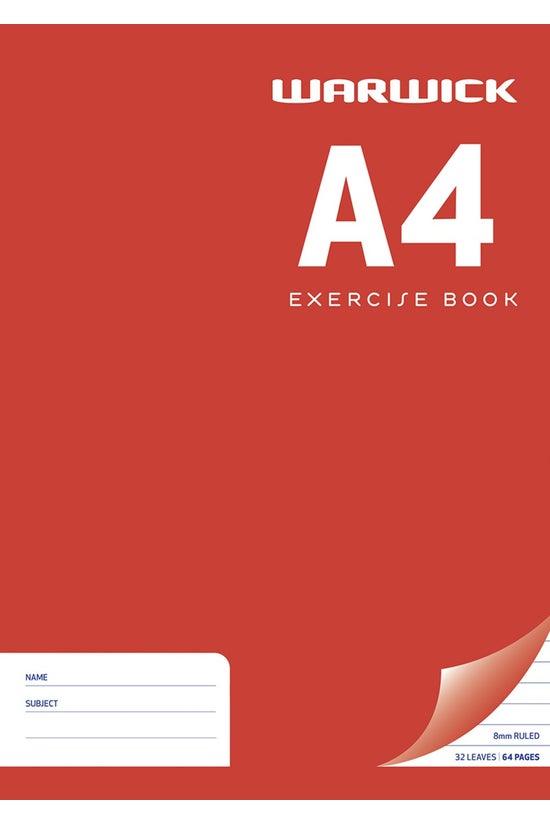 Warwick Exercise Book 8mm Rule...