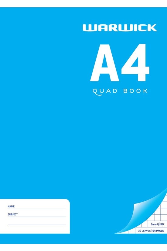 Warwick Quad Book 8mm A4 32 Le...