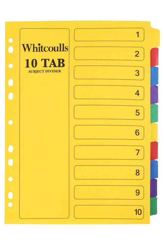 Whitcoulls Subject Dividers A4...