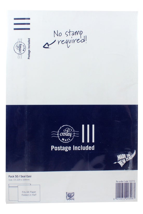 Croxley Mail Prepaid C5 Seal E...