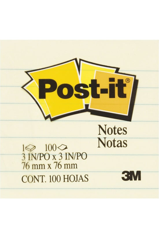 3m Post-it Notes Lined Yellow ...