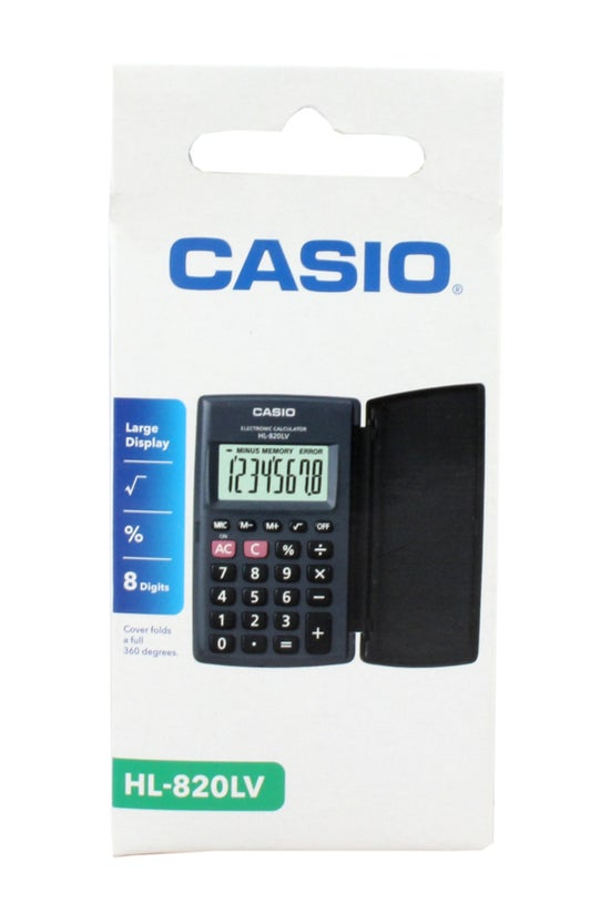 Casio Hl820 Calculator Black