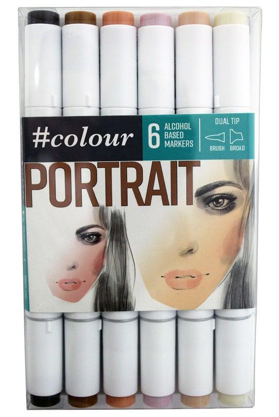 #colour Markers Portrait Pack ...