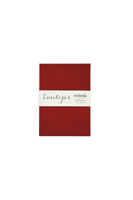 Noted Envelopes C6 Bordeaux Re...