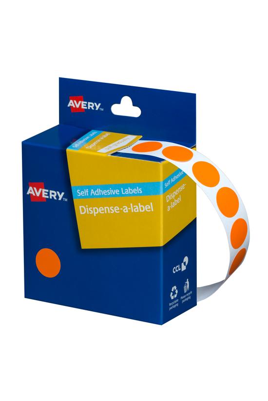 Avery Round Labels Orange 14mm...