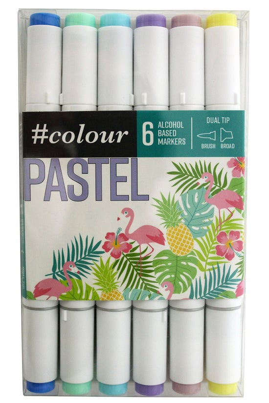 #colour Markers Pastel Pack Of...