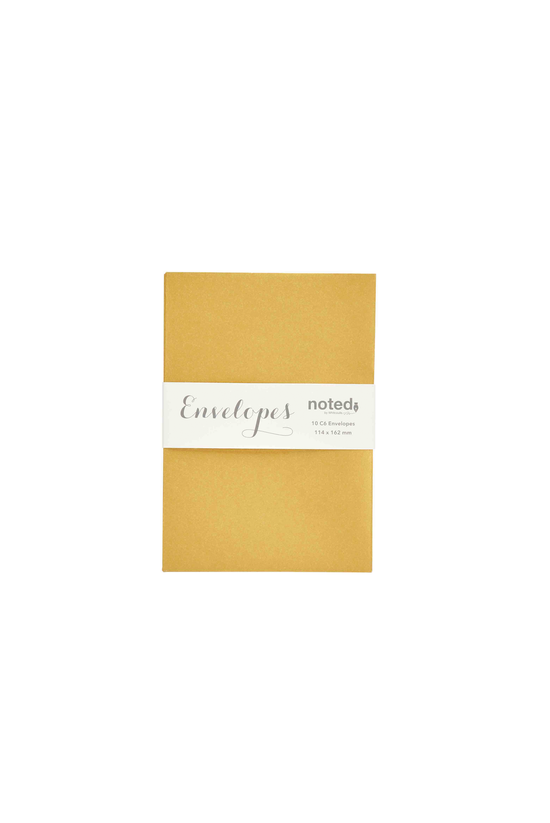 Noted Envelopes C6 Gold Pack O...