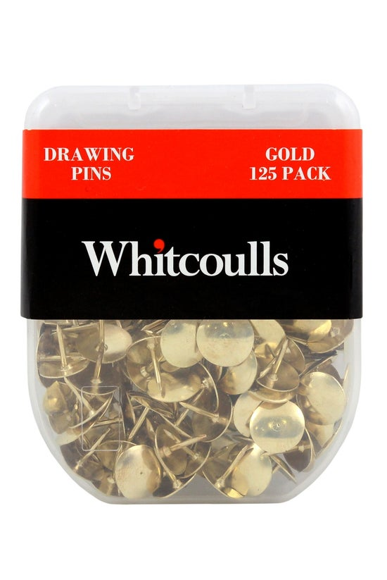 Whitcoulls Drawing Pins Gold P...
