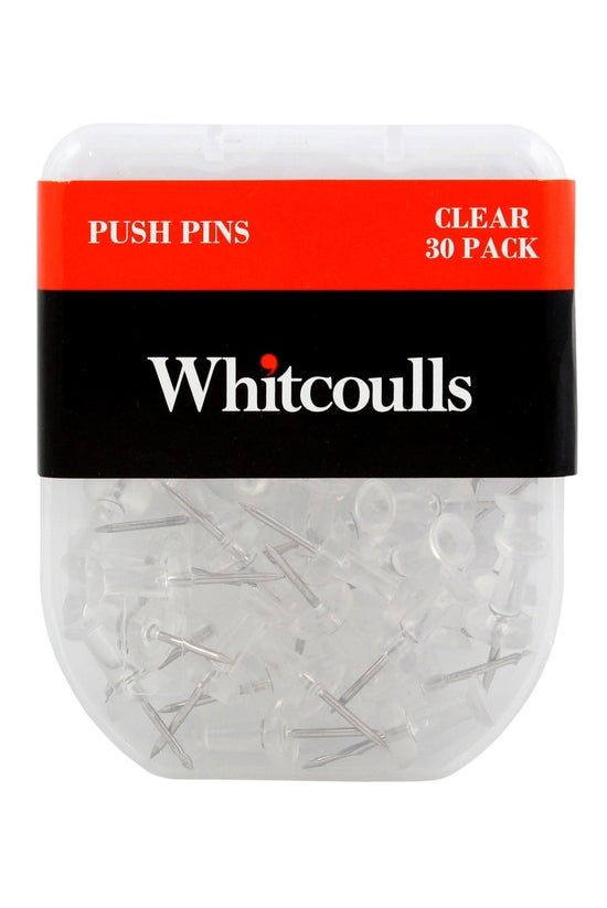 Whitcoulls Clear Push Pins Pac...