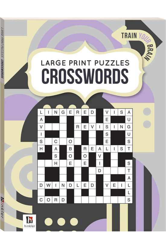 Large Print Puzzle Book: Cross...
