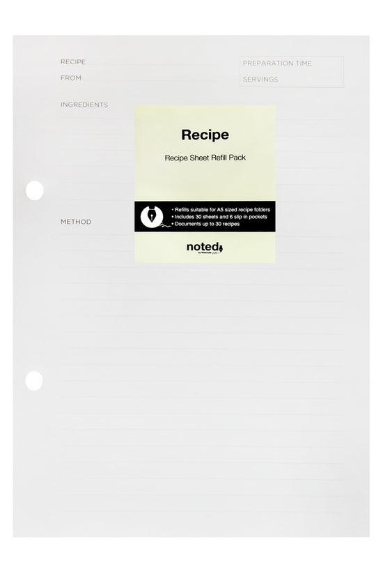 Noted Recipe Folder Refill A5 ...