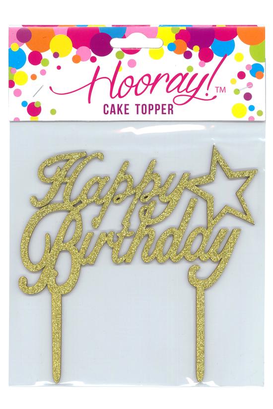 Hooray Cake Topper Happy Birth...