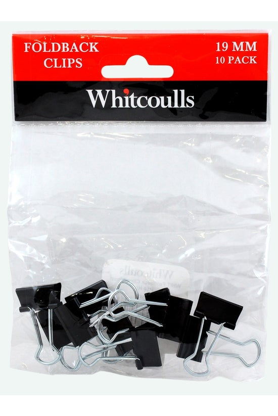 Whitcoulls Foldback Clips 19mm...