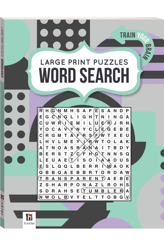 Large Print Puzzle Book: Word ...