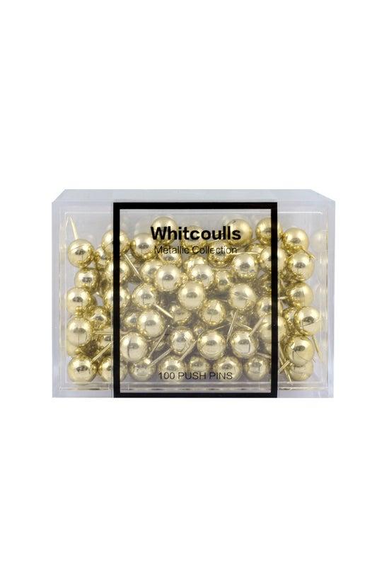 Whitcoulls Push Pins Round Gol...