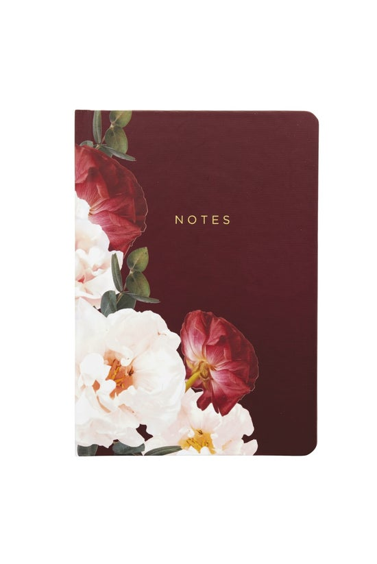 Noted Blossom A5 Notebook Burg...