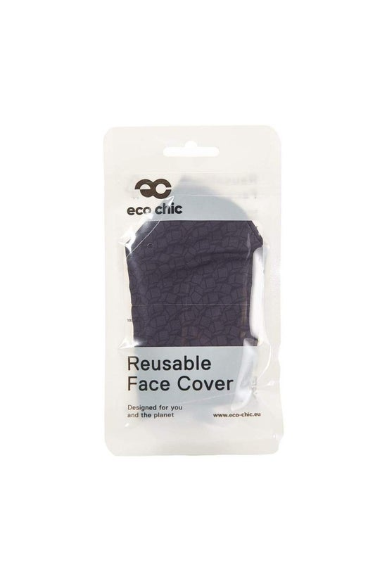 Eco Chic Face Mask Black Cubes
