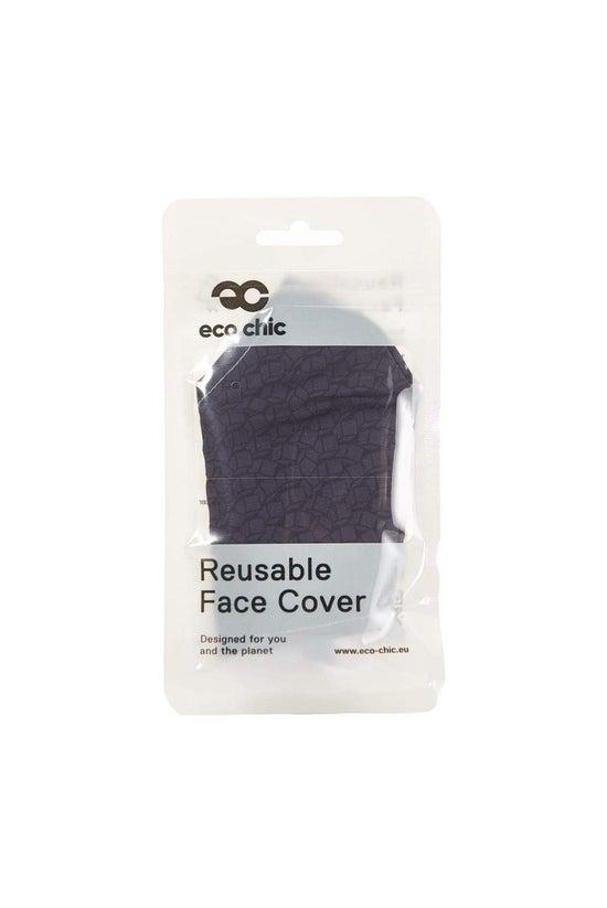 Eco Chic Face Mask Black Cubes
