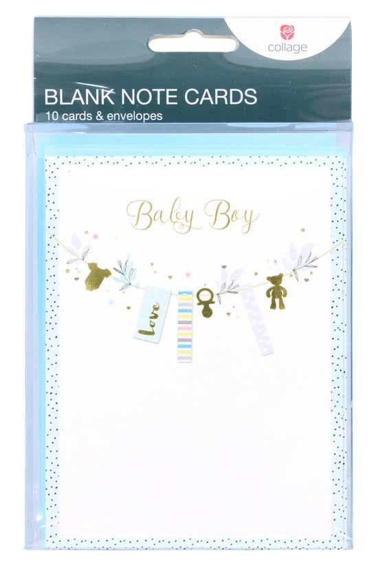 Collage Blank Note Cards Baby ...