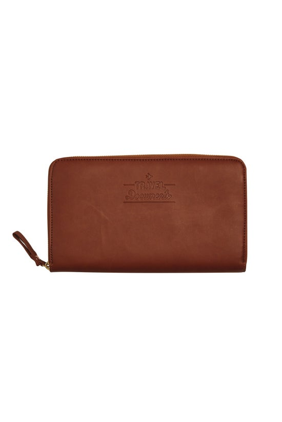 Travel Wallet Tobacco Brown