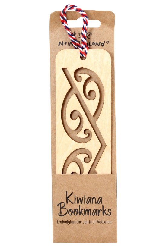 Wooden New Zealand Bookmark Ma...