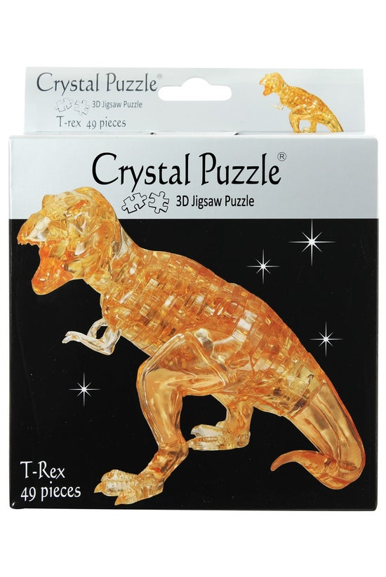 Crystal Puzzle T-rex Brown