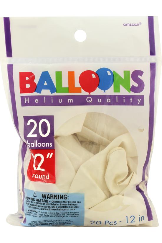 Amscan Latex Balloons 30 Cm Wh...