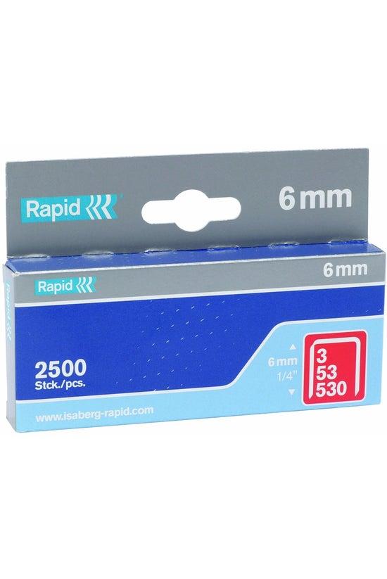 Rapid 53 Staples 6mm Box 2500