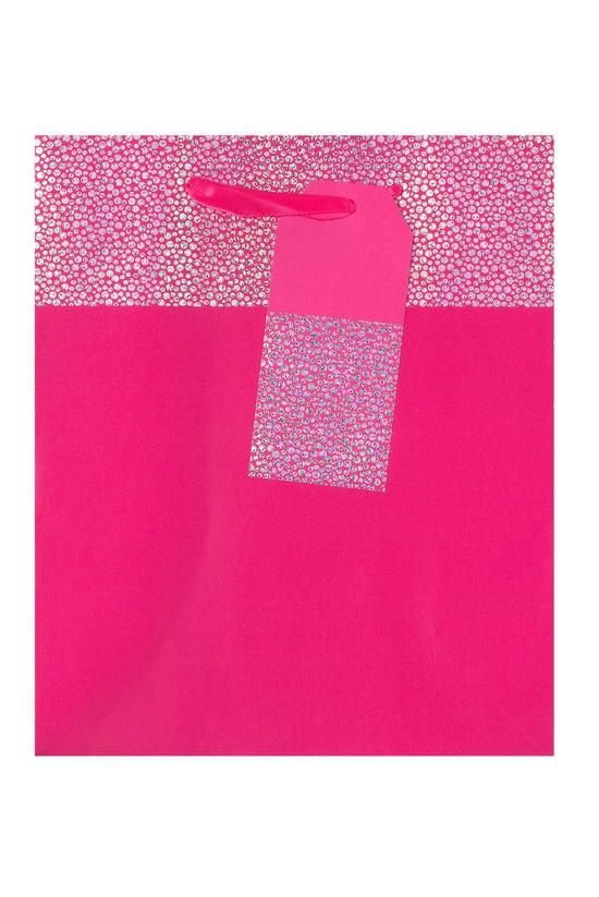 Collage Gift Bag Pink Holograp...