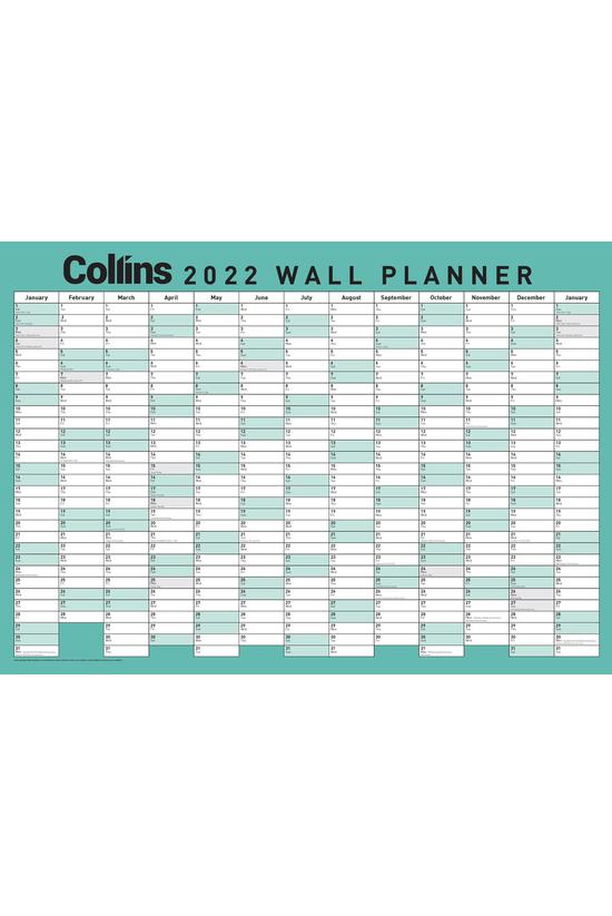 2022 Collins Wallplanner A2 La...