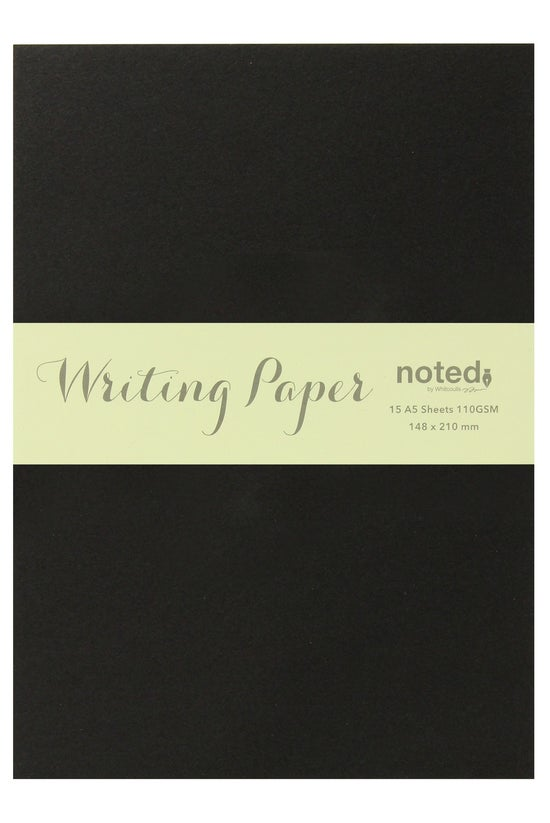 Noted A5 Paper 15 Sheets Black